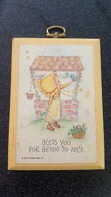 "Hallmark Betsey Clark Wooden Plaque ""Bless You For Being So Nice"" 3x4.5"""