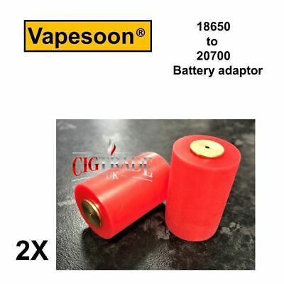 2x Vapesson 18650 to 20700 Battery Adaptor Red