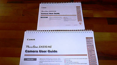 Printed Canon Powershot SX510 HS Camera User Guide Full Colour A4 or A5