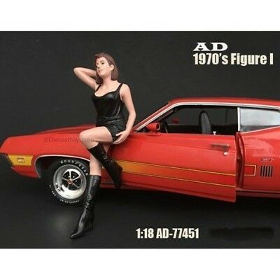 70's Style Figures For 1:18 Scale Model - I Ad-77451 By American Diorama