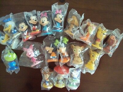 Kellogg Cereal Disney Bobblehead Toys 19PC MICKEY,MINNIE, DONALD DUCK,MUCH MORE
