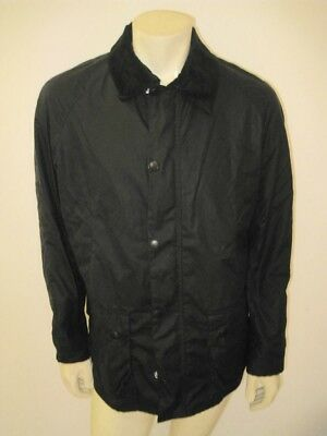 NWT BARBOUR Sylkoil Ashby Jacket Waxed Cotton Navy Blue Size MEDIUM