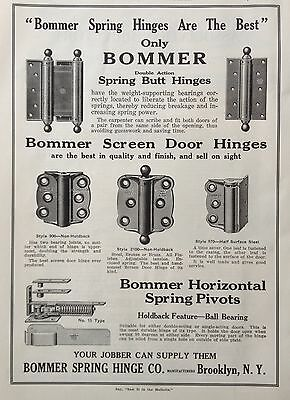 1920 Ad(F19)~Bommer Spring Hinge Co. Brooklyn, Ny. Screen Door Hinges