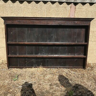 Huge Antique Oak Welsh Dresser Top Shelf