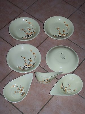 4 assiettes  + 3 Coupelles ou Raviers - SALINS FRANCE - Siam  !