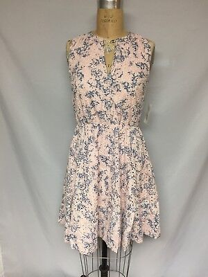 55dcaad8f5 Maison Jules Womens Eyelet Fit   Flare Cocktail Dress 71173MJ pink  Blue NWT