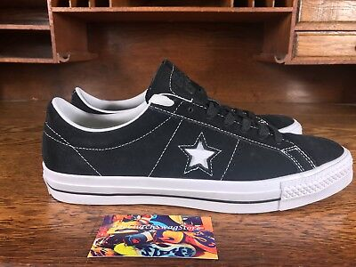 CONVERSE ONE STAR Suede Ox Mens SkateCasual BlackWhite Shoe 149908C All Sizes