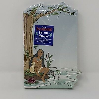 Disney Pocahontas Die-Cut Notepad Stationary Memo Paper Note Pad Vtg 90s