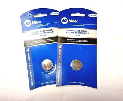 Miller Replacement Lithium Battery for Welding Helmet Lenses NO.217043 QTY 2