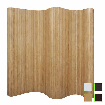 vidaxl room divider panel screen partition bamboo 250x195 cm home