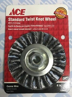 """4"""" 100mm Twist Knot Wire Wheel Brush M14 Thread Angle Grinder Spinning Wheel ACE"""