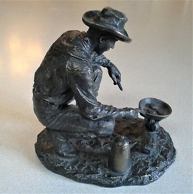 """Supper's Ready"" Sculpture Field And Stream Collection - Cowboy cooking - NICE!"