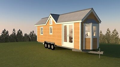 8x28 or 8x24 CUSTOM TOWABLE TINY HOUSE ON WHEELS WITH W/O LOFTS PORCHES DECKS