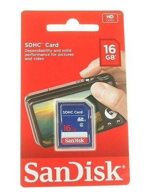 16Gb Sandisk Sdhc Cards Sd Card For Cameras Or Photos Genuine New