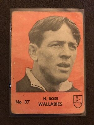 Playtime Rugby Gum Card Famous Rugby Players - Wallabies #37 H. Rose