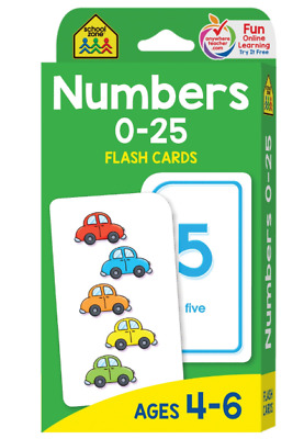 Fun Baby Learning Game Toy Flash Cards Numbers 0-25 Educational Gift for Toddler