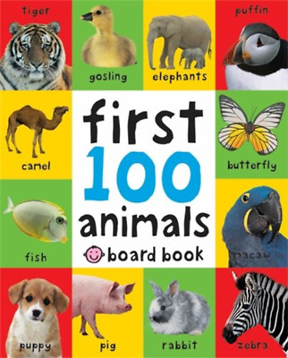 Toddler Children Early Learning Books Board Game Baby Kids Gift First100 Animals