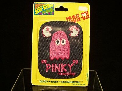 """Vintage Pac-Man """"Pinky"""" patch (1980's)"""