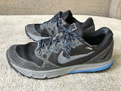 34324fabda1f72 NIKE AIR ZOOM WILDHORSE 3 GTX GORE TEX BLACK DARK GREY 805569 001 MENS Size  12