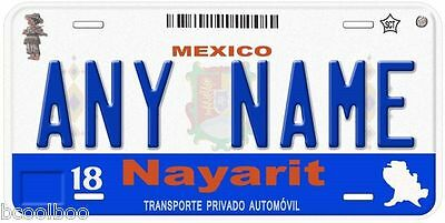 Nayarit Mexico Any Name Number Novelty Auto Car License Plate C01