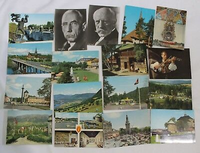 Lot of 68 Norway Postcards 1960's People, Sculptures, Architecture, Scenery ++