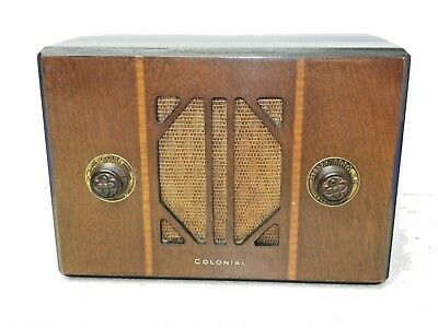 Vintage Colonial 65A AM Radio Wood Cabinet 1933  Serial # 231A