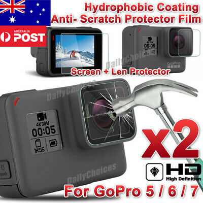 4pcs Lens Protector+Screen Protector Protective for GoPro Hero 7