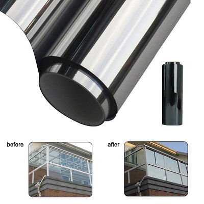 Privacy One Way Mirror Window Tint Film Solar Insulate Glass Reflection Sticker