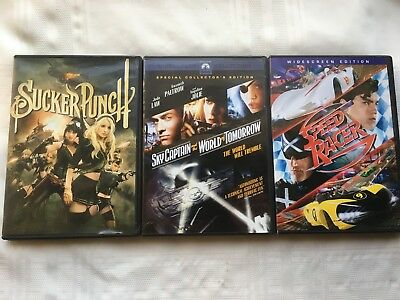 Sucker Punch, Speed Racer & Sky Captain and the World of Tomorrow DVD - Lot