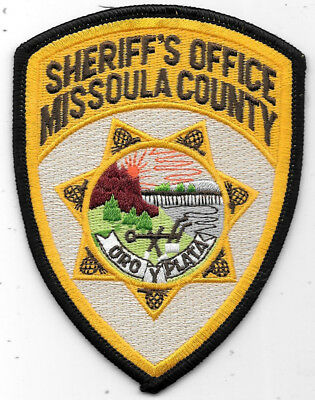 """Police Patch: Sheriff's Office Missoula County Montana Measures 3 1/2"""" X 4 1/2"""""""