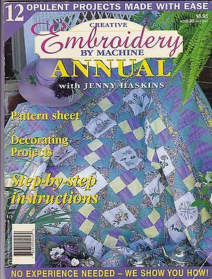 Creative Embroidery by Machine with JENNY HASKINS - Vol 2 No 1