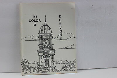 Vintage Dubuque Iowa Coloring Book Historical Landmarks Buildings The Color Of