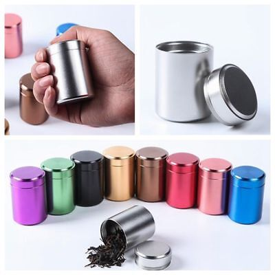 Durable Aluminum Herb Stash Jar Airtight Smell Proof Container Bottle Pots