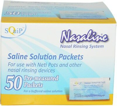 Saline Solution Salt, Squip, 50 piece