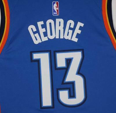 3a4caa8cbed Men's Oklahoma City Thunder Paul George #13 Blue New Season Swingman Sewn  Jersey