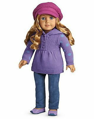 Beautiful Brand *NIB* American Girl Casual Chic Outfit & Charm For Dolls