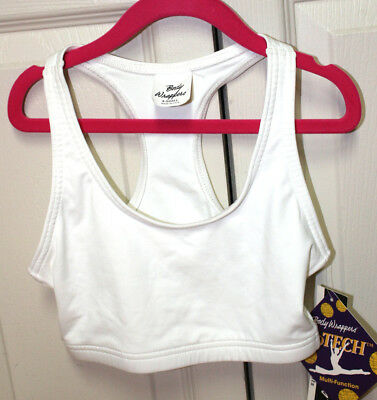 Sports bra Adult womens XS  white Body Wrappers brand