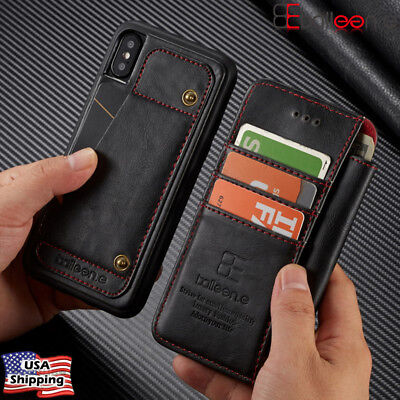Detachable Leather Wallet Shockproof Phone Case Cover For iPhone XS Max XR X 8 7