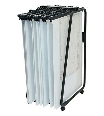 Hang-A-Plan Front LoaderTrolley A0 (20 Clamp Capacity) + 20 Quickfile A0 Binders