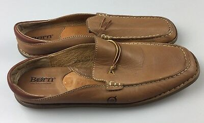 Born Women's Size 9 Brown Leather Moccasin Toe Driving Loafers Slip On Mules