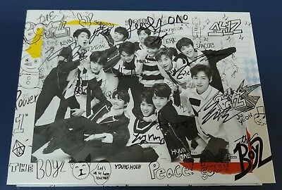 "KOREA MUSIC] THE BOYZ -""THE FIRST"" 1st Mini Album CD K-POP (Signed CD)"