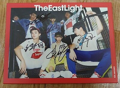 "KOREA MUSIC] THE EAST LIGHT - ""SIX SENSES"" 1ST MINI Album CD K-POP (Signed CD)"