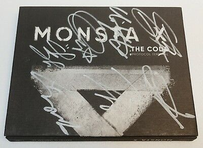 KOREA MUSIC] MONSTA X [THE CODE] 5th Mini Album CD K-POP (Signed CD)
