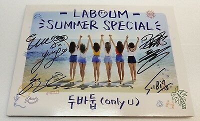 "KOREA MUSIC] LABOUM - ""Summer Special / ONLY U"" Album CD K-POP (Signed CD)"