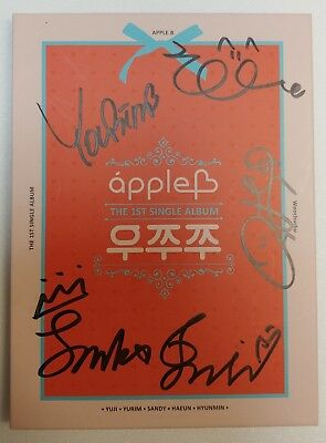 "KOREA MUSIC] Apple.B - ""Woo Chu Chu"" 1st single Album CD K-POP (Signed CD)"