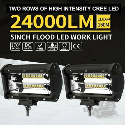 2x 4inch CREE LED Work Light Bar Spot Flood OffRoad Driving Reverse 4x4 Ford