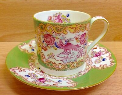 "Minton ""Cockatrice"" Pattern Coffee Cup & Saucer."