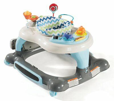 Storkcraft 3-in-1 Activity Walker and Rocker with Jumping Board, Blue/Gray,