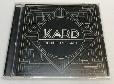 "KOREA MUSIC] KARD K.A.R.D ""DON'T RECALL"" PROJECT VOL2 Album CD K-POP (Signed CD)"