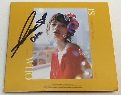 "KOREA MUSIC] Minseo - ""IS WHO"" 3TH SINGLE Album CD K-POP (Signed CD)"
